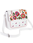 Кожаная женская сумка белая №54