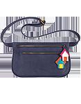 Женская кожаная сумка на пояс