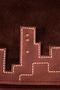 Фото 5 Кожаная мужская сумка №20 ночной город, коричневая в интернет-магазине Unique U дизайнера Елены Юдкевич