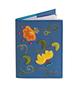 Обложка на паспорт Вальс цветов, синяя
