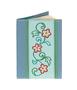 Обложка на паспорт Цветочный орнамент, голубая