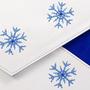 Клатч Снежинки, сине-белый