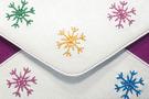Клатч Снежинки, малиновый в Интернет-магазине UNIQUE U дизайнера Елены Юдкевич