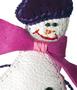 Брелок Снеговичок в Интернет-магазине UNIQUE U дизайнера Елены Юдкевич.