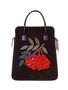 Кожаная сумка №3, Рябина алая