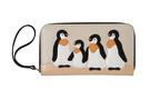 кожаный женский кошелек м.3, Пингвины