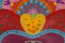 6 Сумка кожаная дизайнерская Петриковский узор в Интернет-магазине UNIQUE U дизайнера Елены Юдкевич