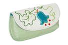 2 фото Ключница кожаная светло-зелёная  дизайнерская Вальс цветов в Интернет-магазине UNIQUE U