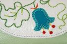 3 фото Ключница кожаная светло-зелёная  дизайнерская Вальс цветов в Интернет-магазине UNIQUE U