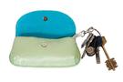 6 фото Ключница кожаная светло-зелёная  дизайнерская Вальс цветов в Интернет-магазине UNIQUE U