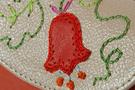 3 Вальс цветов,оранжевая ключница дизайнерская кожаная в Интернет-магазине UNIQUE U дизайнера Елены Юдкевич.