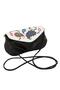 кожаная женская сумочка красивая чёрного цвета Пейсли №34 в Интернет-магазине UNIQUE U дизайнера Елены Юдкевич
