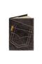 кожаная обложка  на паспорт №1 черная, Джинсовый карман