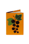 Кожаная обложка  на паспорт №1, Смородина черная