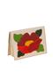 КОЖАНАЯ женская ОБЛОЖКА НА ПАСПОРТ №2, мак на перламутре   в интернет-магазине Unique U дизайнера Елены Юдкевич Фото 1