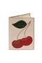 Кожаная обложка  на паспорт №2, Вишенки