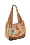 Кожаная сумка №33 горчичная, Пейсли