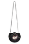 Фото 2 Кожаная женская  сумка-клатч №44 Пейсли, чёрная в интернет-магазине Unique U дизайнера Елены Юдкевич