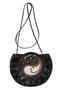 Фото 3 Кожаная женская  сумка-клатч №44 Пейсли, чёрная в интернет-магазине Unique U дизайнера Елены Юдкевич
