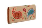 Кожаный женский кошелёк №1 Пейсли бежевый  в интернет-магазине Unique U дизайнера Елены Юдкевич Фото 2
