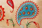 Кожаный женский кошелёк №1 Пейсли бежевый  в интернет-магазине Unique U дизайнера Елены Юдкевич Фото 5