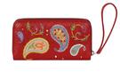 Фото 2 Кожаный женский  кошелёк 2 Пейсли, красный в Интернет-магазине UNIQUE U