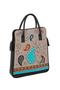 Фото 2 Кожаная женская сумка №3, Пейсли серая в Интернет-магазине UNIQUE U