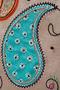 Фото 4 Кожаная женская сумка №3, Пейсли серая в Интернет-магазине UNIQUE U
