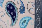 Фото 4 Кожаная женская сумка №42, Пейсли, серая в Интернет-магазине UNIQUE U