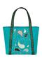 Фото 1 Кожаная женская сумка №42, Пейсли, бирюзовая в Интернет-магазине UNIQUE U