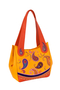 Фото 1 Кожаная женская сумка №33 Пейсли оранжевая  в интернет-магазине Unique U дизайнера Елены Юдкевич