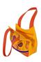 Фото 3 Кожаная женская сумка №33 Пейсли оранжевая  в интернет-магазине Unique U дизайнера Елены Юдкевич