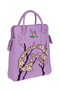 Фото 1 Кожаная женская сумка №3 сакура инфинити, сиреневая интернет-магазине Unique U дизайнера Елены Юдкевич