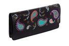 Фото 2 Кожаная женская  сумка клатч  №43 Пейсли, чёрная в интернет-магазине Unique U дизайнера Елены Юдкевич
