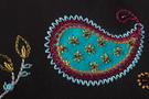 Фото 4 Кожаная женская  сумка клатч  №43 Пейсли, чёрная в интернет-магазине Unique U дизайнера Елены Юдкевич