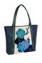 Фото 2 Кожаная женская сумка №42 Императорская сакура, синяя в интернет-магазине Unique U дизайнера Елены Юдкевич