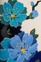 Фото 3 Кожаная женская сумка №42 Императорская сакура, синяя в интернет-магазине Unique U дизайнера Елены Юдкевич