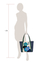 Фото 7 Кожаная женская сумка №42 Императорская сакура, синяя в интернет-магазине Unique U дизайнера Елены Юдкевич