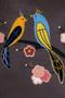 Фото 2 Кожаная женская сумка №2 Японские птички, серая в интернет-магазине Unique U дизайнера Елены Юдкевич
