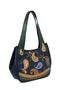 Фото 1 Кожаная сумка №33, Пейсли синяя в Интернет-магазине UNIQUE U