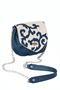 Фото 1 КОЖАНАЯ женская СУМКА №31, Барокко синяя в Интернет-магазине UNIQUE U