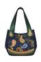 Фото 2 Кожаная женская сумка №33, Пейсли синяя в Интернет-магазине UNIQUE U