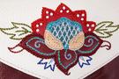Фото 4 Кожаная женская сумка №34, загадочный цветок, красная в интернет-магазине Unique U