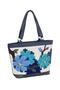 Фото 2 Кожаная женская сумка №46, Императорская сакура синяя в Интернет-магазине UNIQUE U