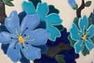 Фото 3 Кожаная женская сумка №46, Императорская сакура синяя в Интернет-магазине UNIQUE U