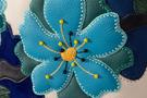 Фото 4 Кожаная женская сумка №46, Императорская сакура синяя в Интернет-магазине UNIQUE U