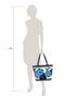 Фото 7 Кожаная женская сумка №46, Императорская сакура синяя в Интернет-магазине UNIQUE U