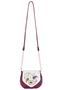 Фото 2 Кожаная женская сумка №31, Пейсли, малиновая в Интернет-магазине UNIQUE U