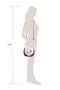 Фото 5 Кожаная женская сумка №31, Пейсли, малиновая в Интернет-магазине UNIQUE U