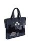 Фото 2 Кожаный женский портфель №50, Ночной город, синий в интернет-магазине Unique U